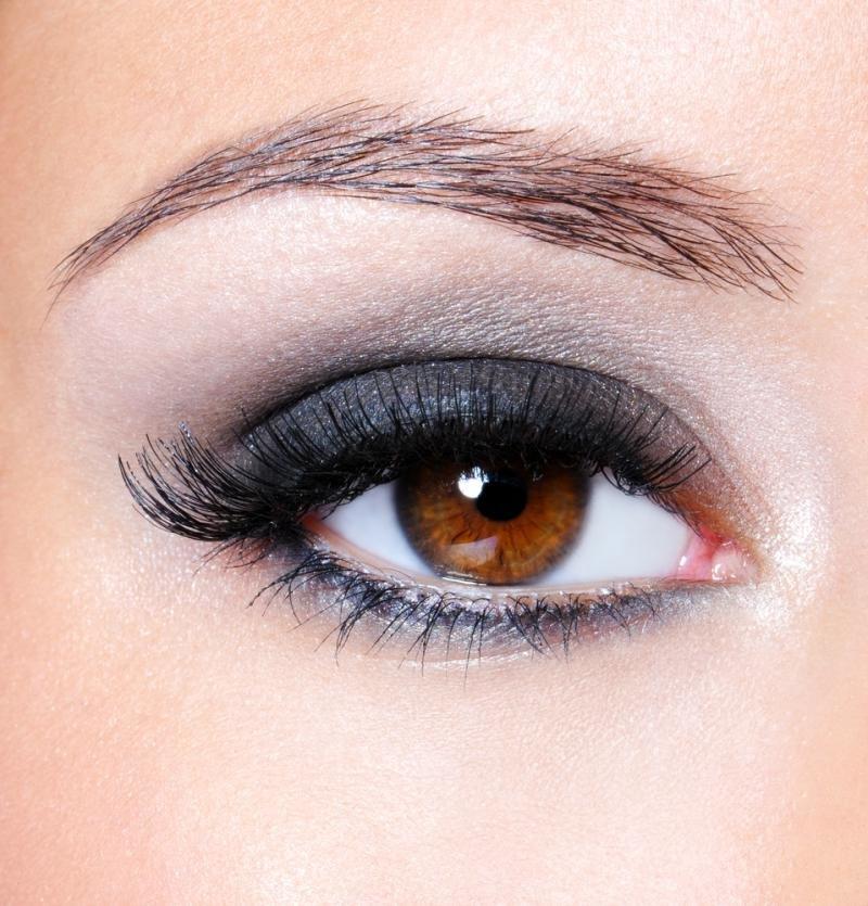 Фото макияжа карих теней