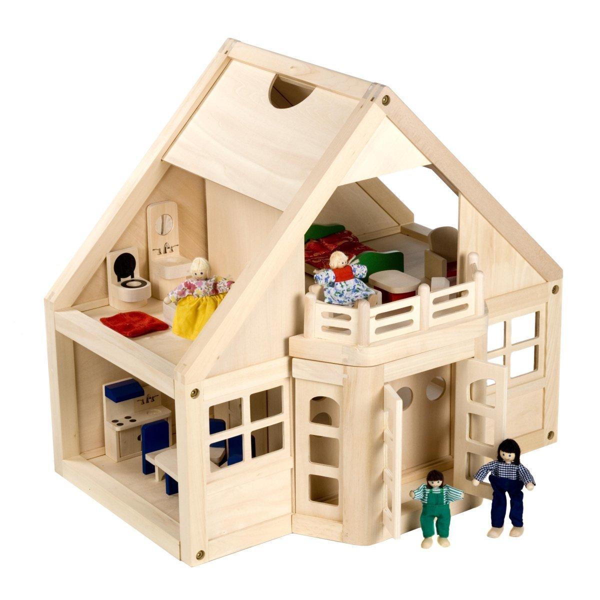 Игрушечные деревянные домики