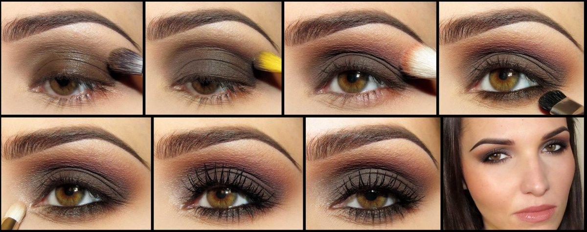 Как сделать макияж в домашних условиях фото пошагово для карих