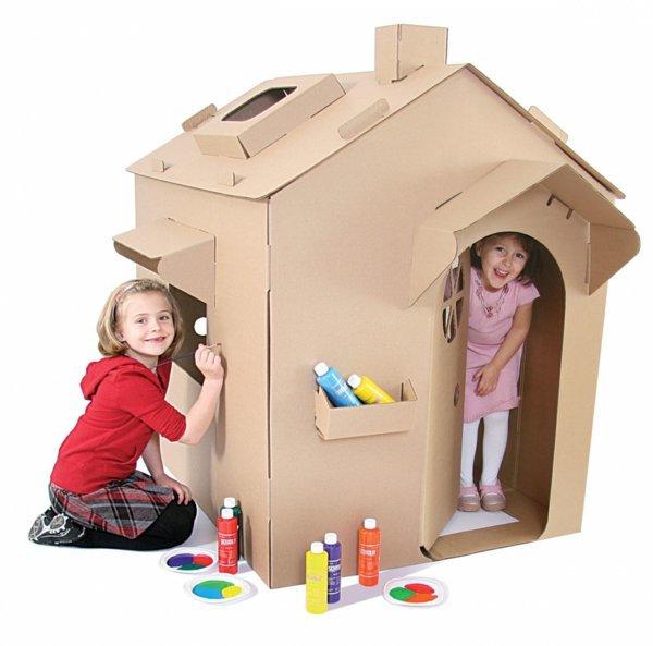 Своими руками картонный домик для детей 89