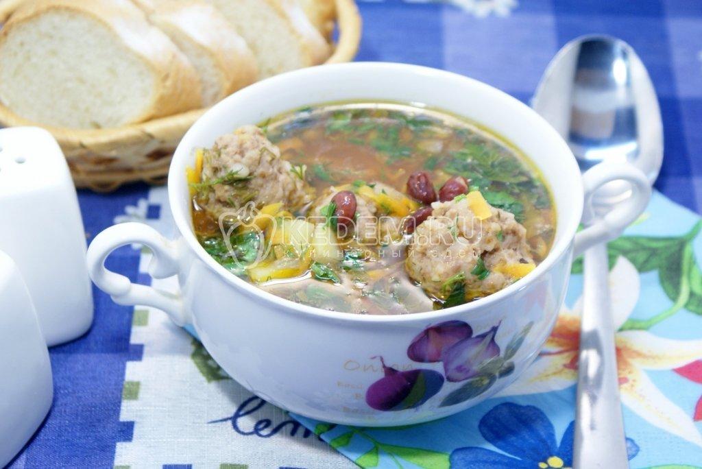 Вкусный суп с фрикадельками пошаговый