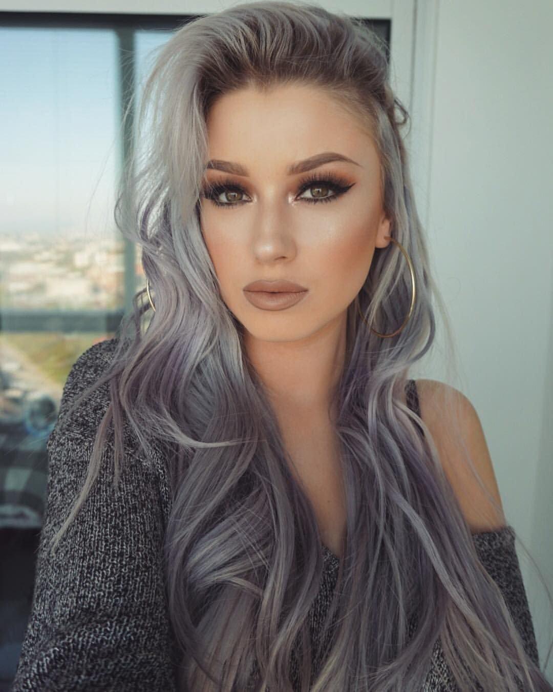 Модные пепельные оттенки волос