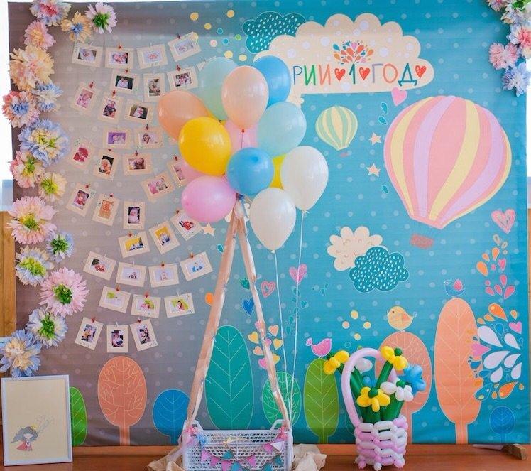 Оформление детского дня рождения 1 годик своими  911