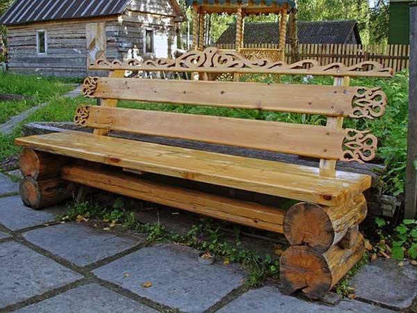 Скамейки из дерева своими руками цена 72