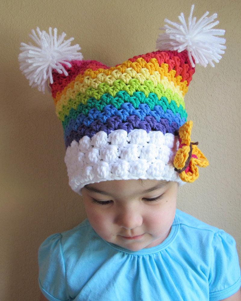 Шапки детские с цветами своими руками