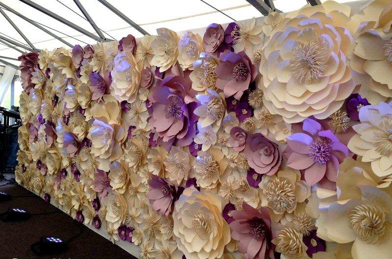 Настенные цветы из бумаги своими руками 52