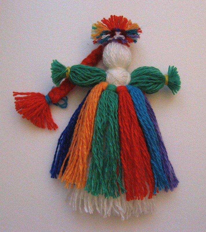 Куклы из ниток своими руками для детей в картинках 52