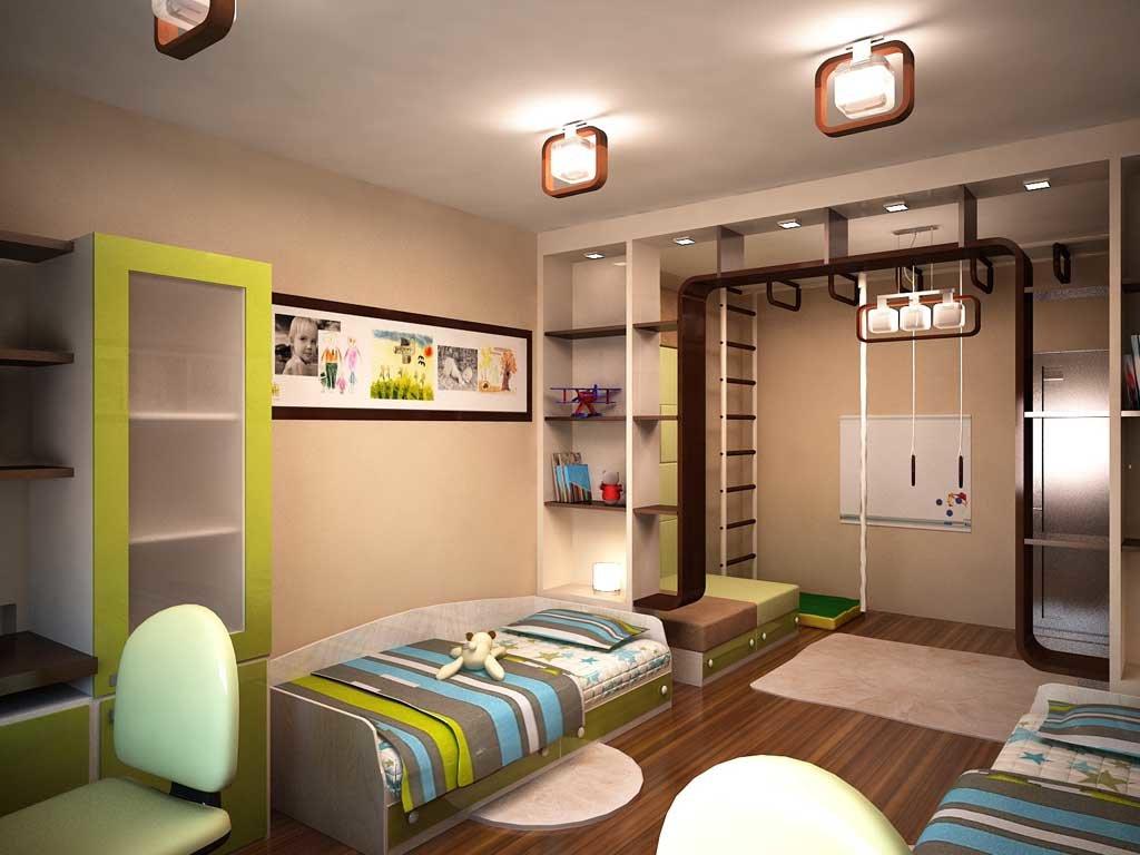Детская комната для двух мальчиков интерьер фото