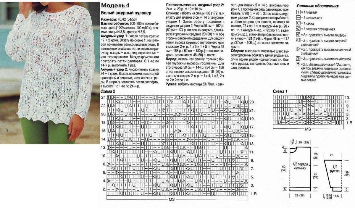 Вязание спицами модели и схемы 47