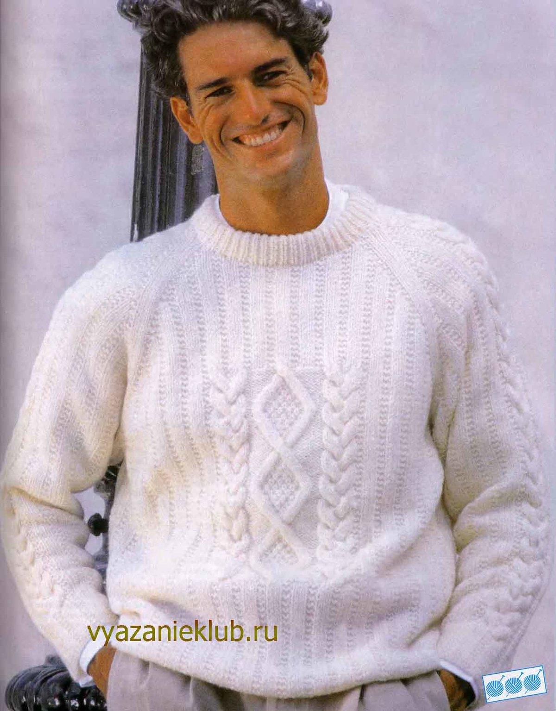 Вязание спицами для мужчин пуловер реглан спицами