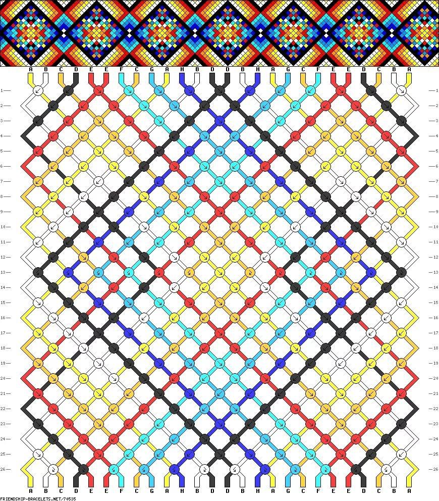 Создать схему фенечки с картинки