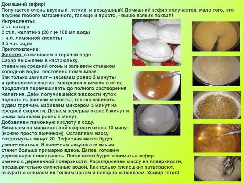 Зефир в домашних условиях без яиц рецепт с пошагово