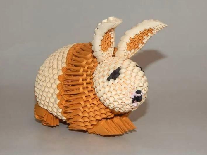Модульные кролики из оригами