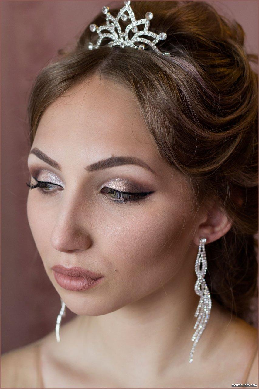 Невеста с нюдовым макияжем