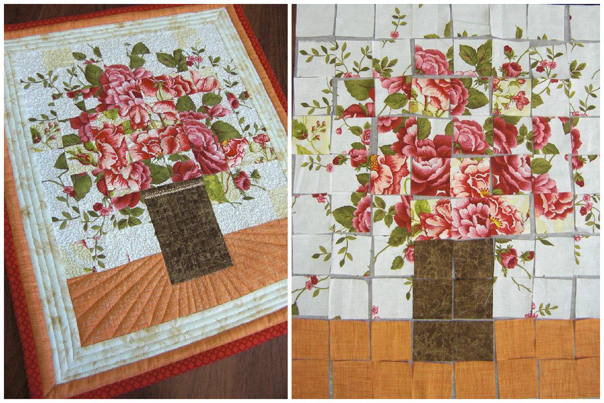 Вышивка на ткани для пэчворка 52
