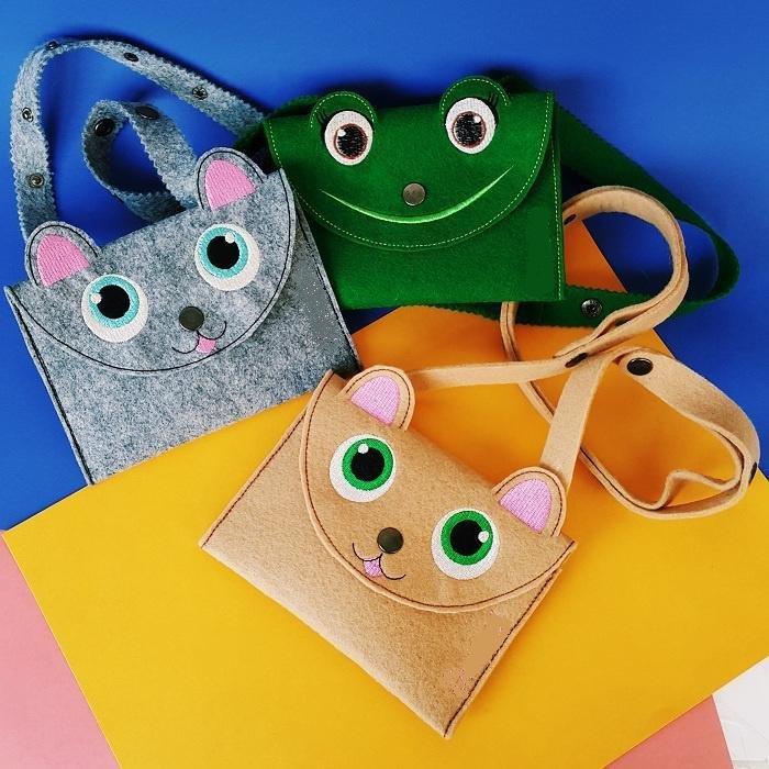 Как сделать из фетра детскую сумочку? Выкройка детской