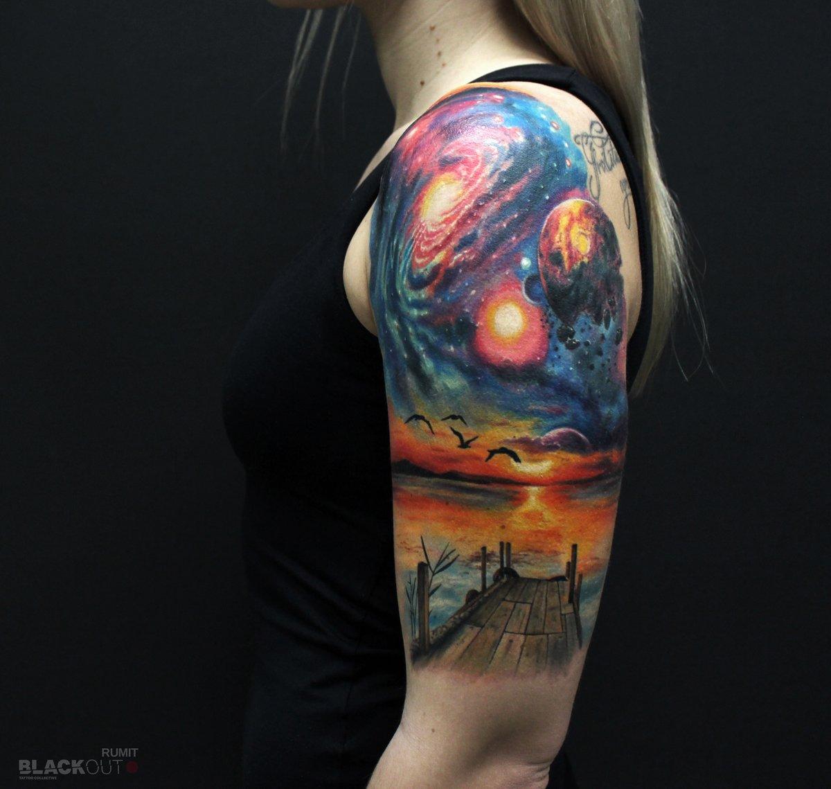 Вселенная тату рукав фото