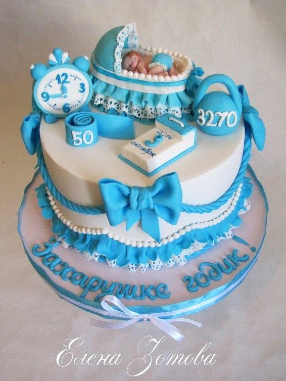 Украсить торт на 1 годик мальчику