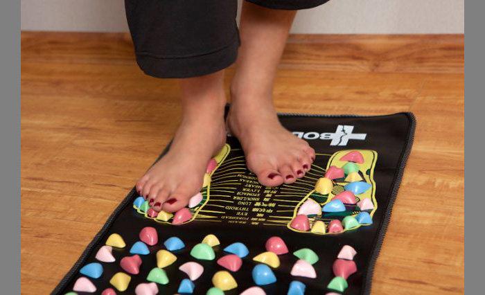 Детский массажный коврик для стоп своими руками 22