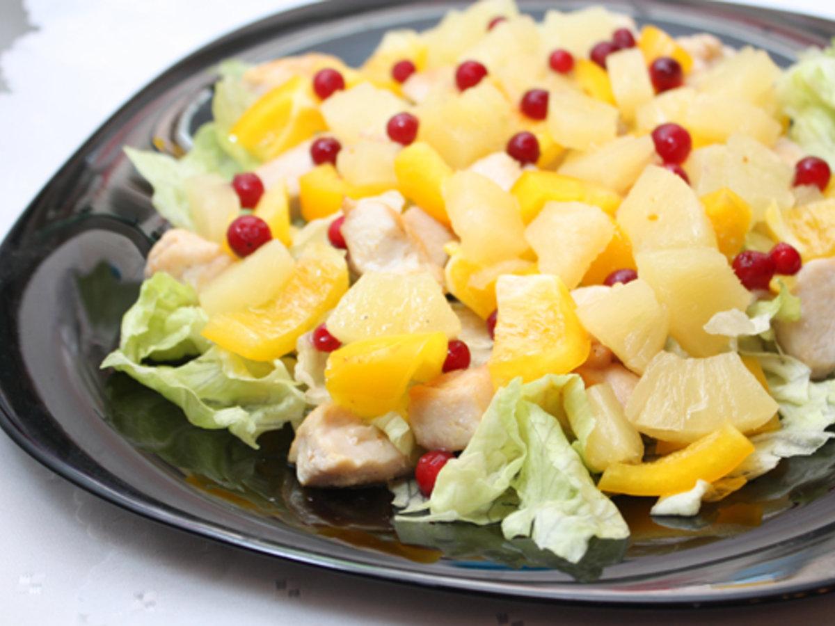 Салаты с консервированными ананасами рецепты с простые и вкусные