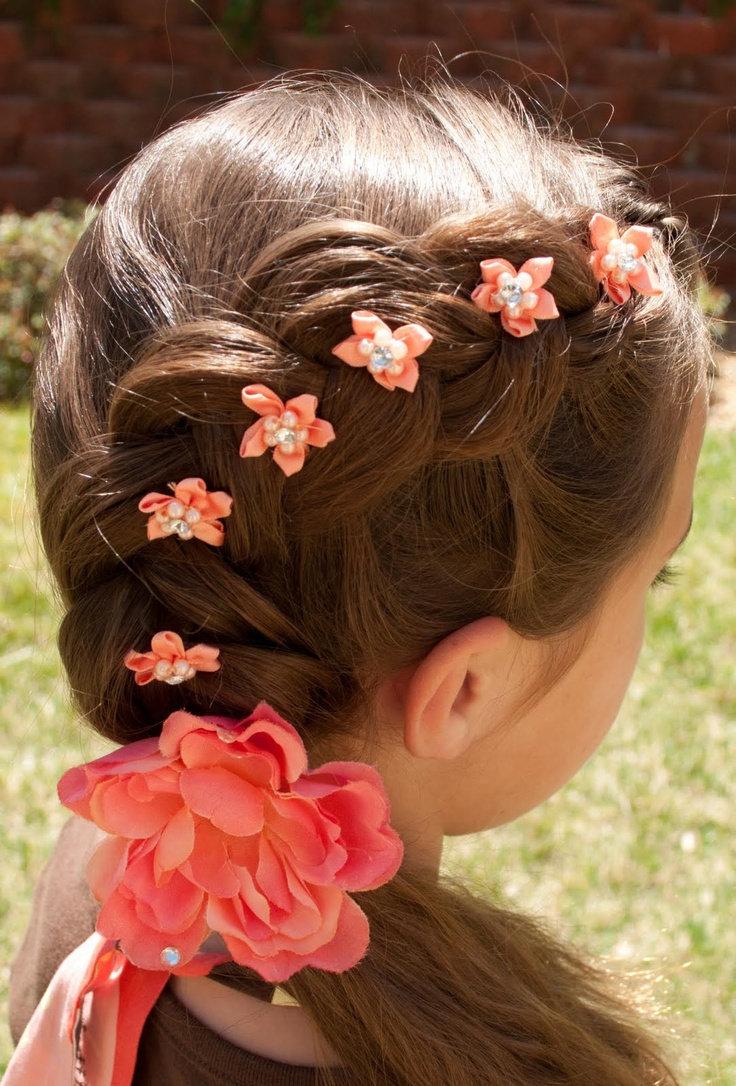 Причёски на длинные волосы для девочек 11 лет на свадьбу