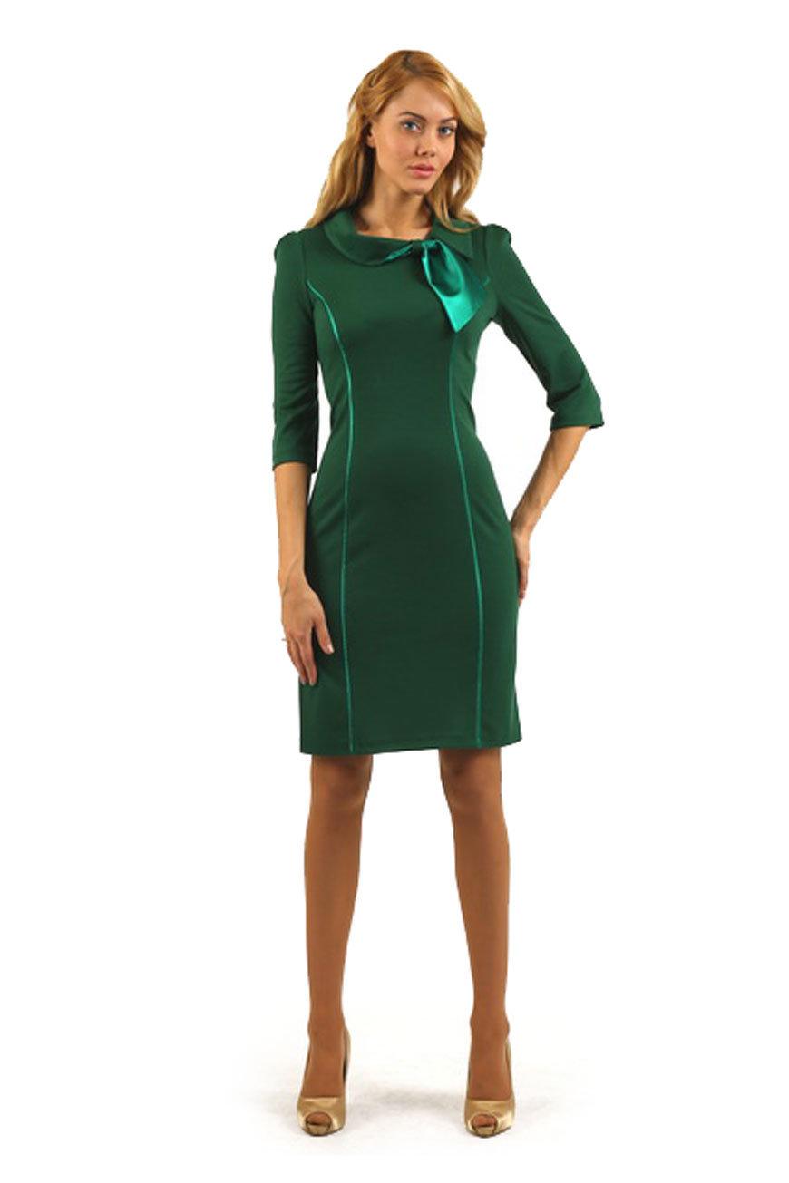 Фото зеленых платьев футляр