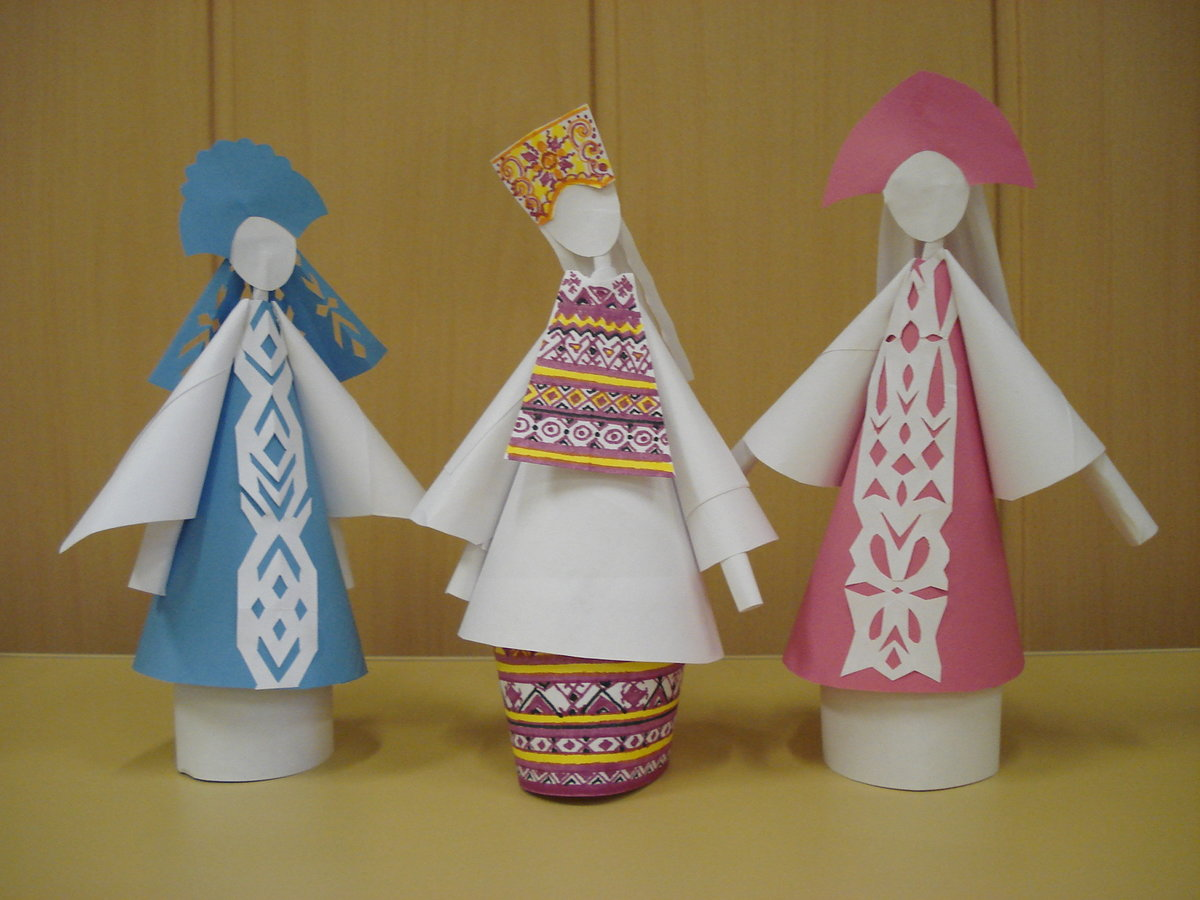 Объемные куклы из картона своими руками 29