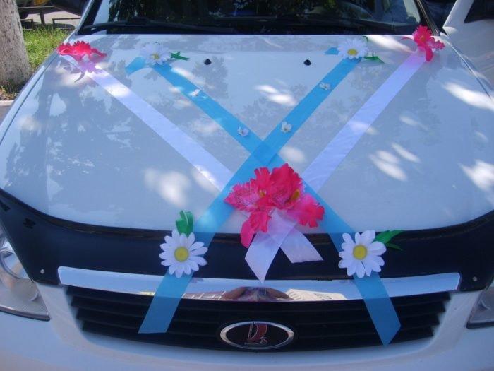 Как украсить капот машины на свадьбу своими руками 100