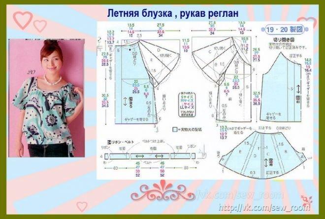 Летняя блуза свободного покроя своими руками 1