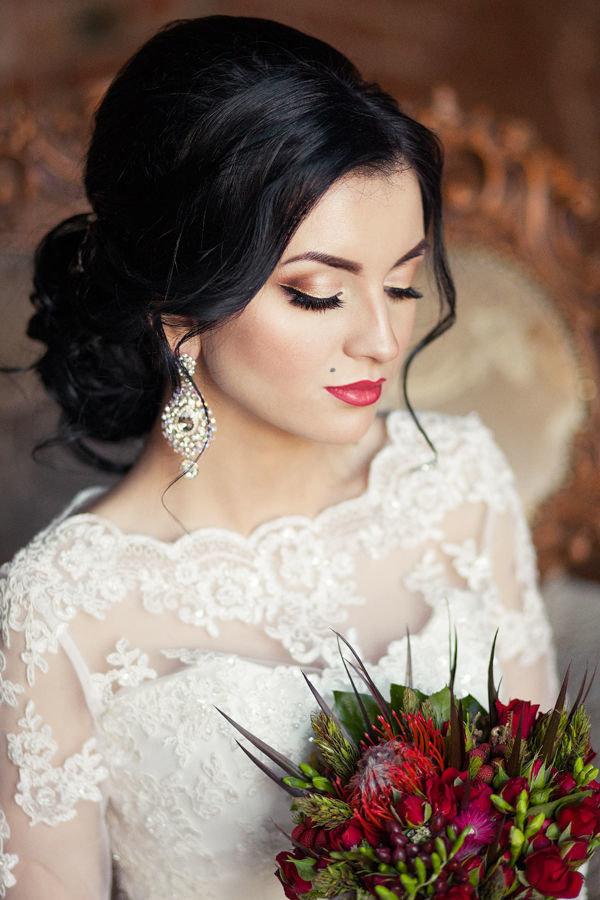 Свадебные прически и макияж в дагестане и макияж