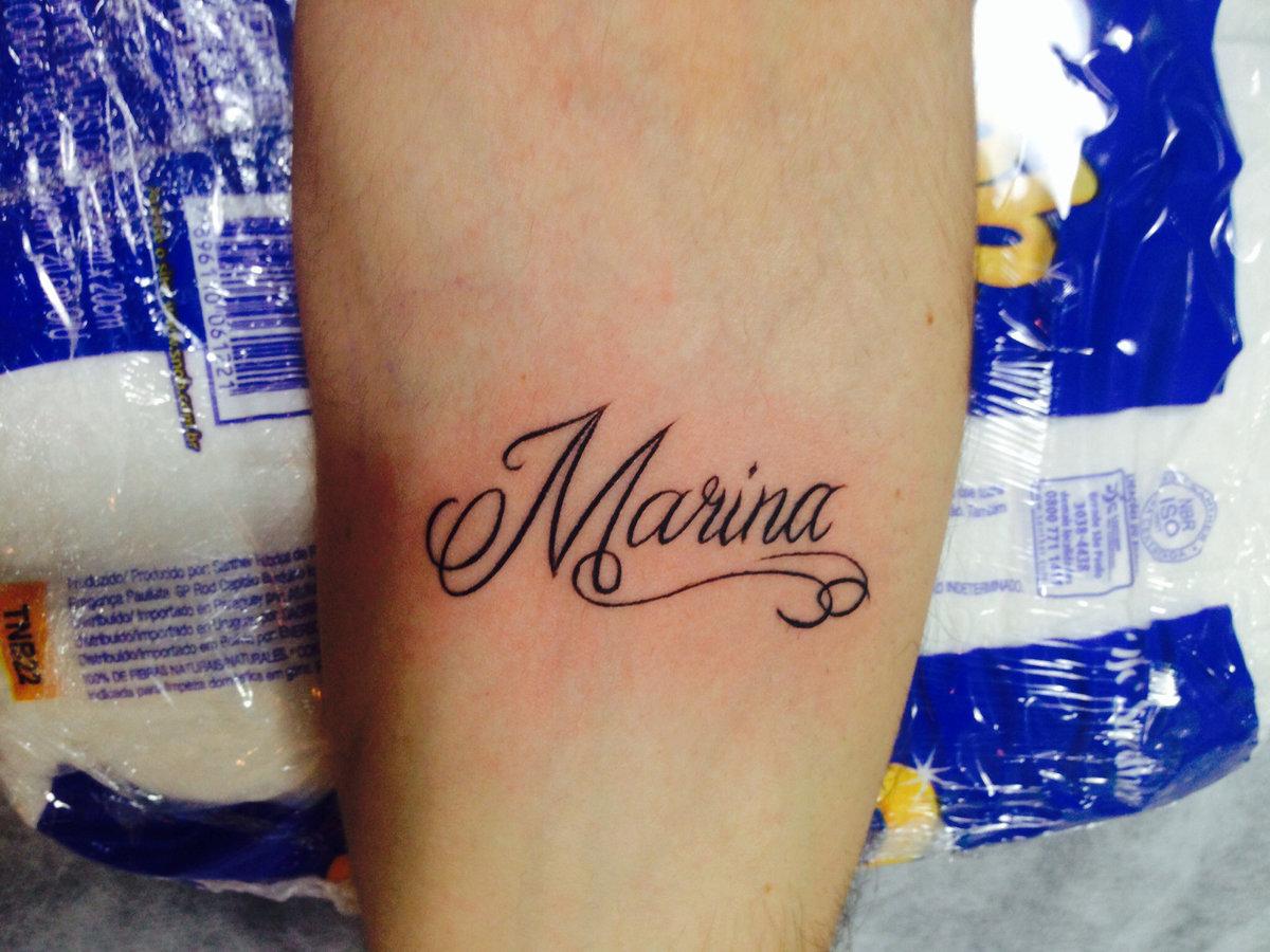 Татуировка на руке с именем полина фото