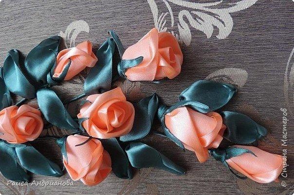 Ютуб вышивка лентами бутон розы мастер класс 79
