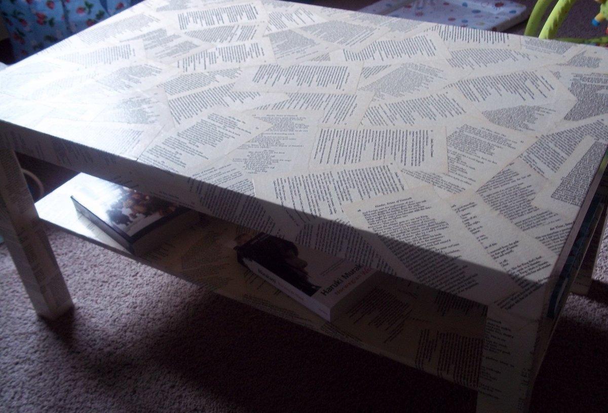 Как сделать декупаж полированного стола