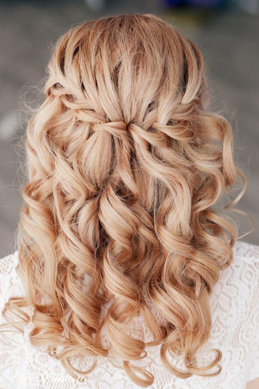 Прически с локонами и косами фото