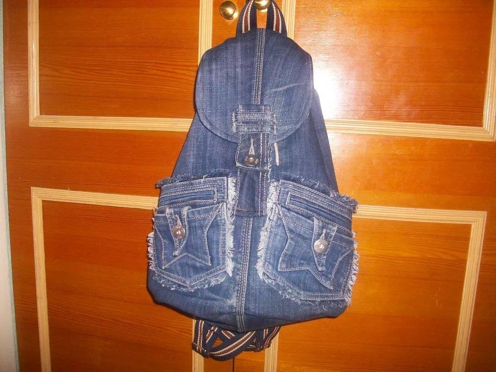 Рюкзаки из джинсов как его сшить