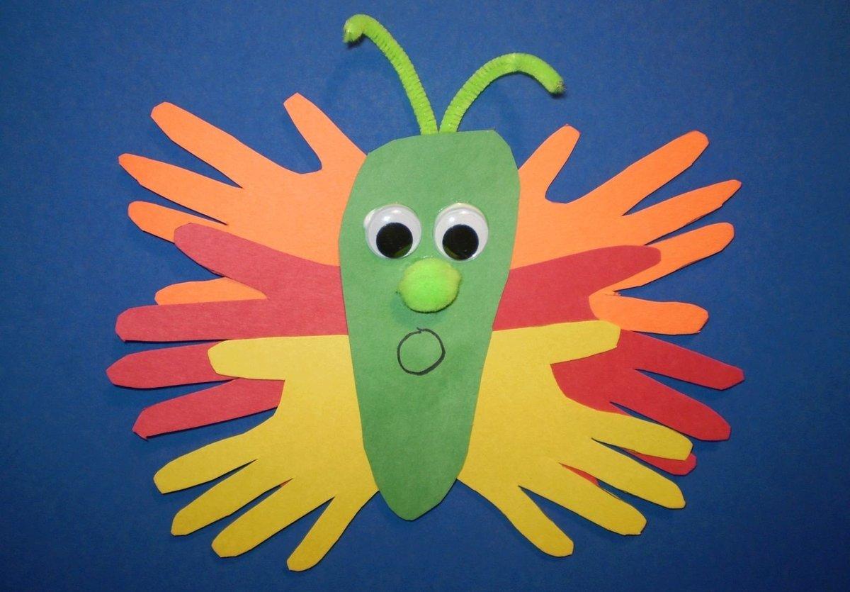Поделки из цветной бумаги для детей птиц