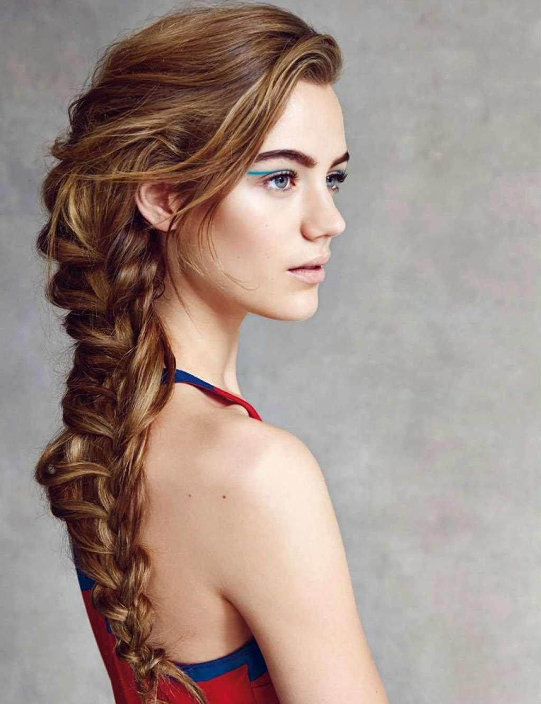 Прически из кос и с косами на средние и длинные волосы (66 фото, видео)