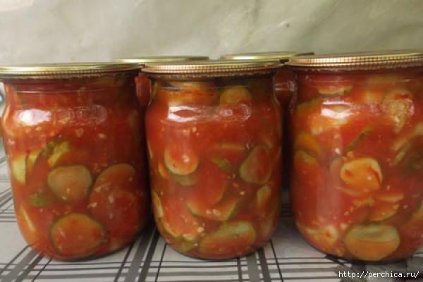 Как сделать огурцы в томатном соусе на  230