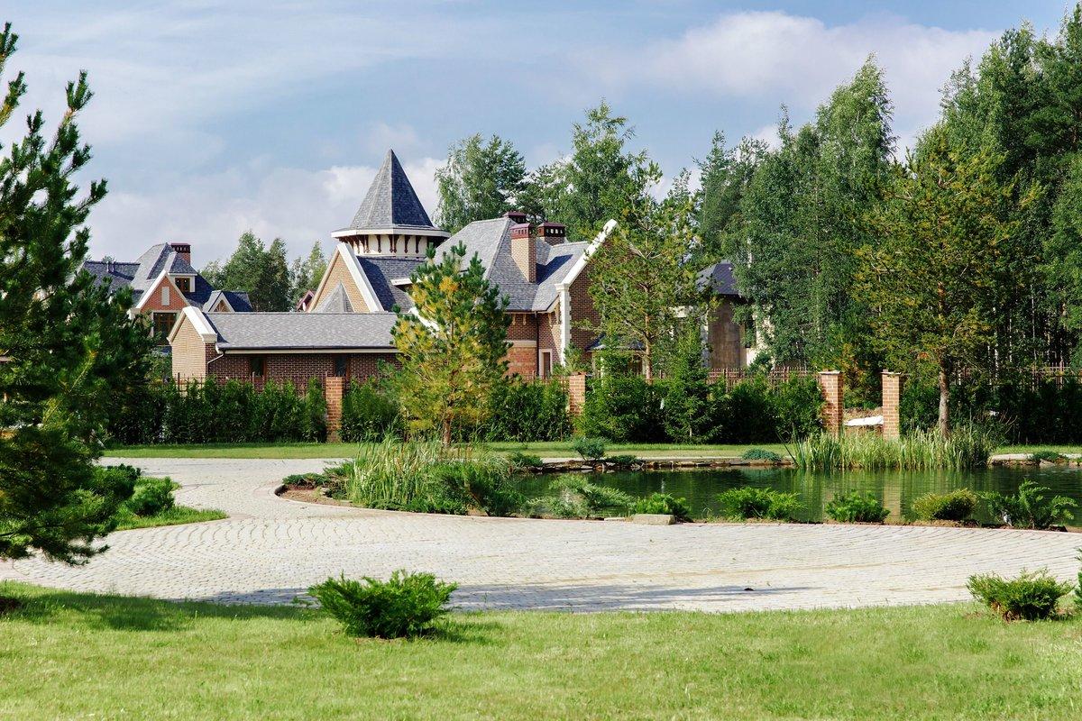 Коттеджный поселок ландшафтный дизайн