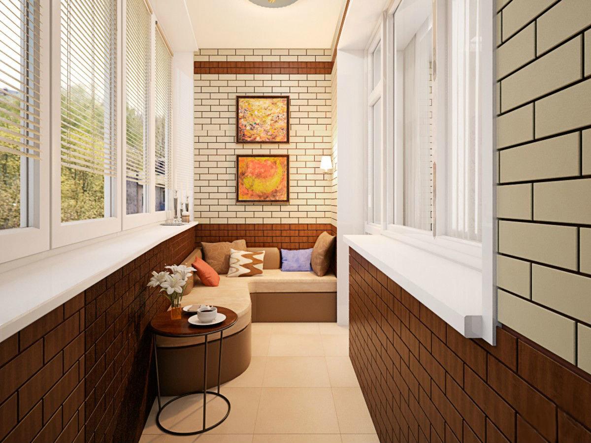 Отделка балкона внутри: фото-идеи оригинальных решений 60