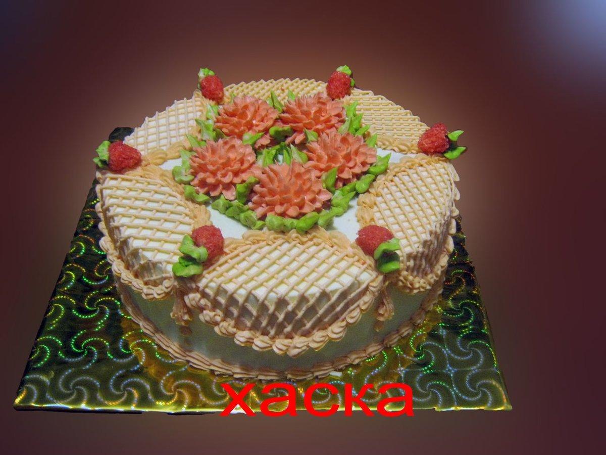 Украшение тортов мастер класс из крема фото
