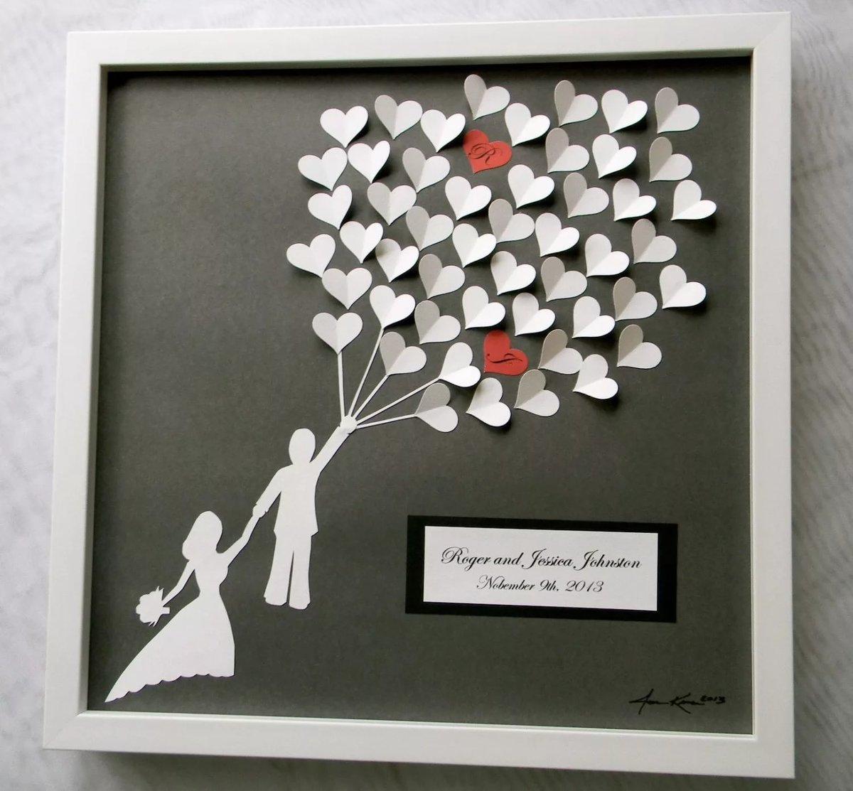 Подарок на свадьбу своими руками легко и быстро