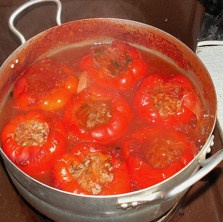 Фаршированный перец рецепт домашних условиях