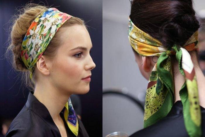 Модный платок на голову 22