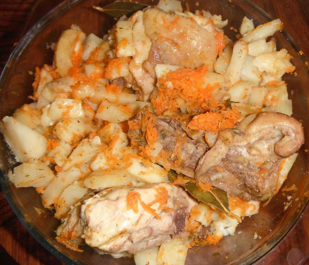 Пошаговые рецепты картошка с курицей
