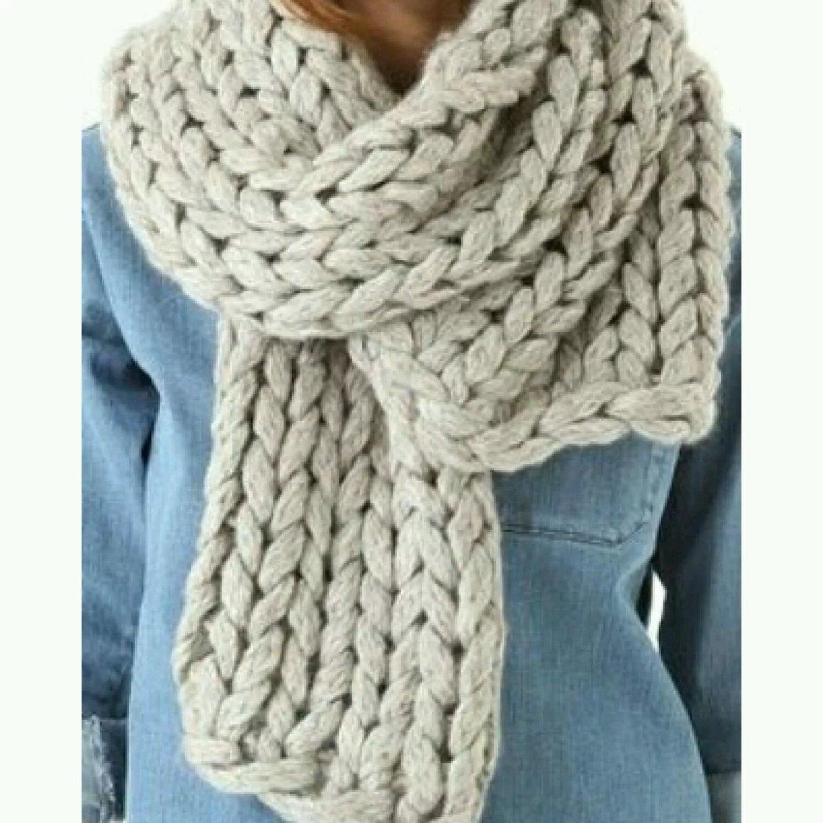 Мастер-классы по вязанию шарфа из толстой пряжи