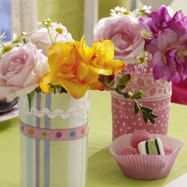 Цветы из ткани своими руками в вазу 1
