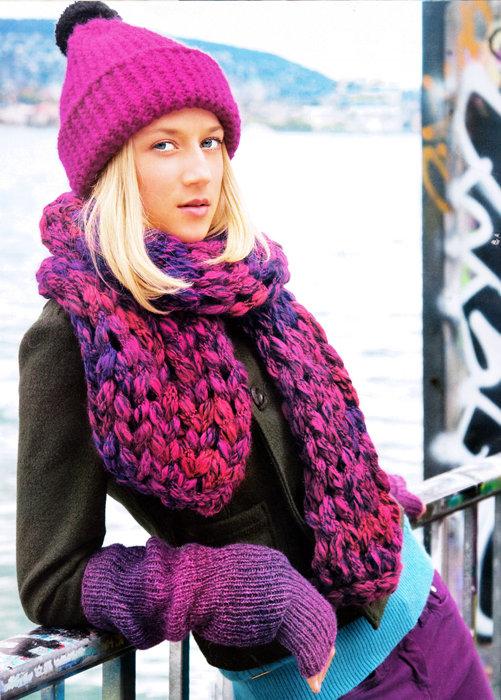 Вязание крючком шарф из толстой пряжи 61