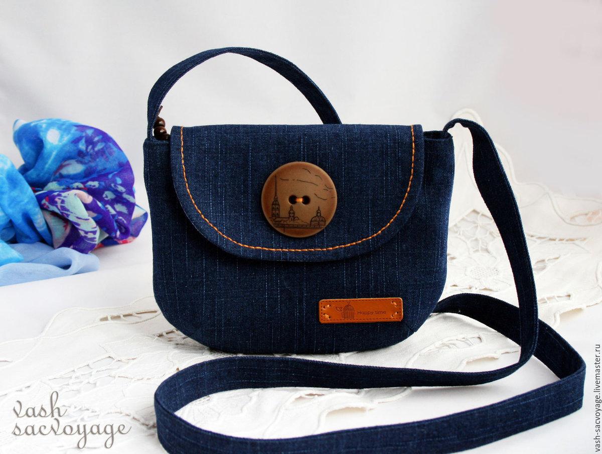 Маленькая джинсовая сумка своими руками 856