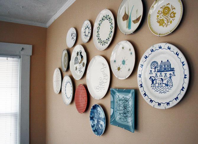 Декор тарелок своими руками на стену 40